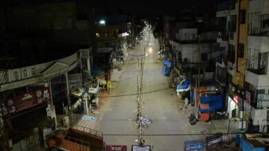 Photo of Curfew like situation   in Hyderabad at night