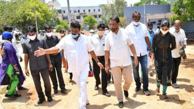 Photo of Minister, higher officials toured Sanathnagar constituency