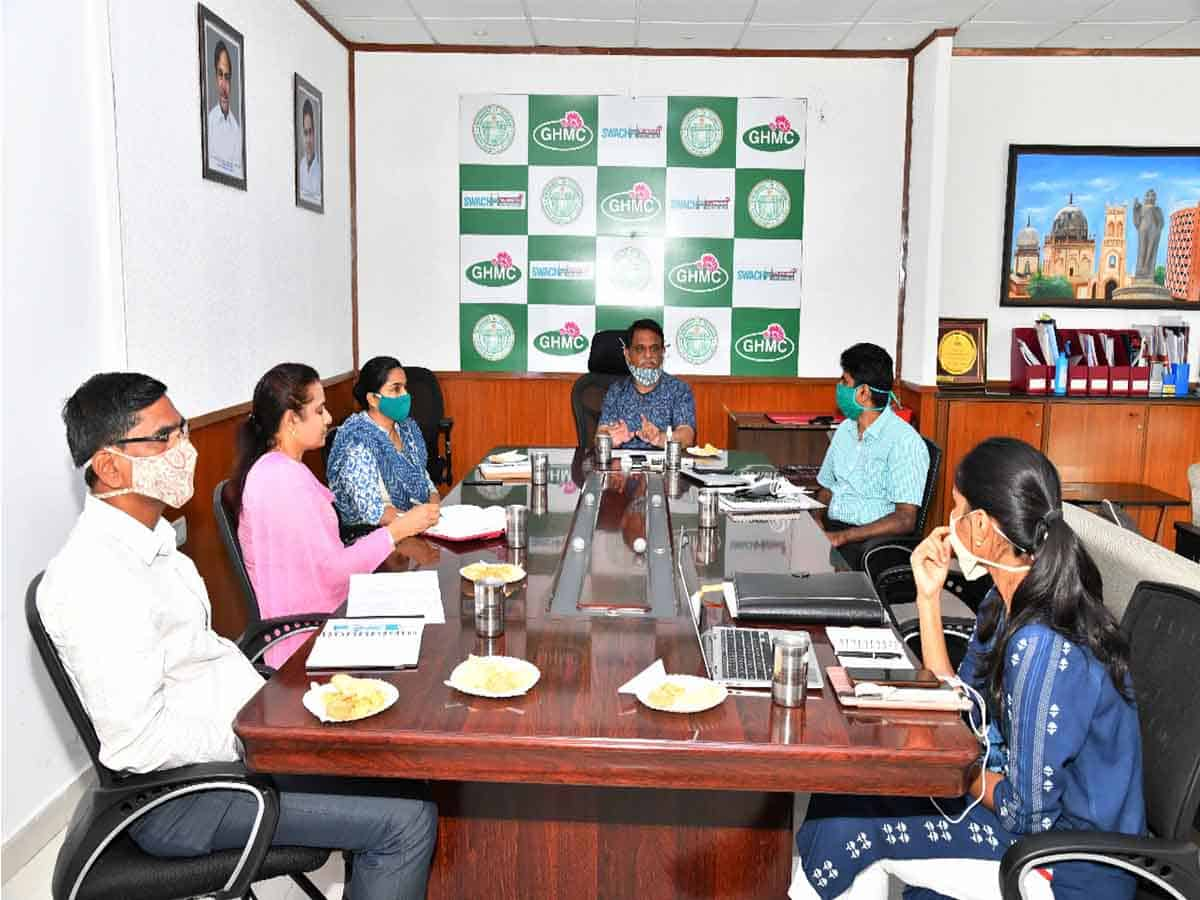Arvind Kumar directs GHMC to continue spray of disinfectant