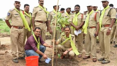 Karimnagar cop with a green thumb