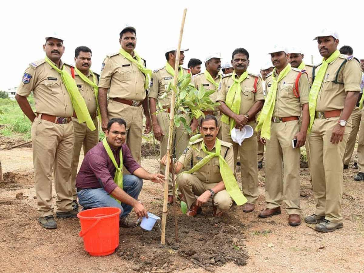Karimnagar cop with a green thumb
