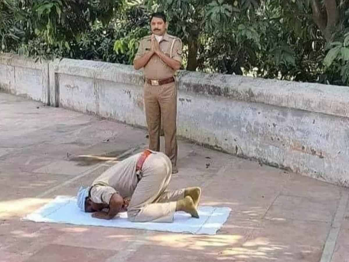 UP: Cops join in prayers, display communal harmony