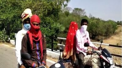 Photo of Groom goes from UP to MP on motorbike to get married in lockdown