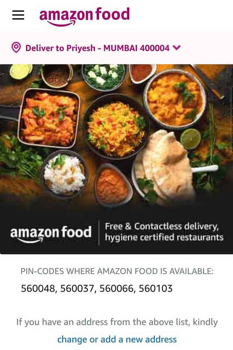 Amazon Food launched in India