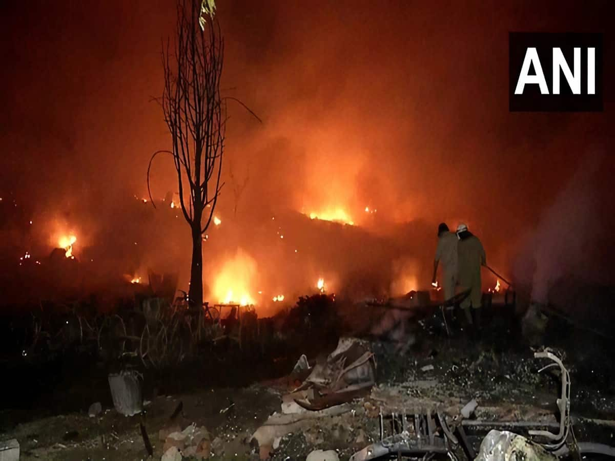 Fire at Tughlakabad