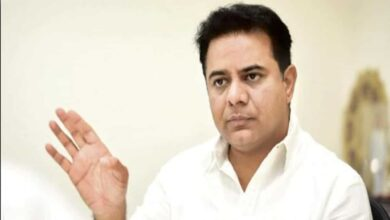 Photo of KTR asks GHMC to speed up road development works