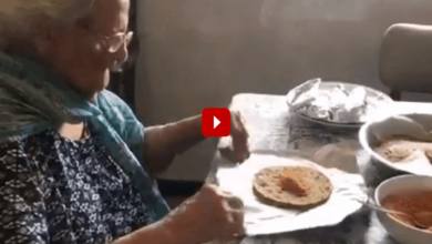 Photo of Age no bar to help poor: 99-year-old woman packs food for migrants