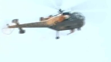 Photo of IAF chopper showers petals on Gandhi Hospital, video goes viral
