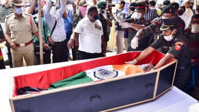 Photo of Photos: Last rites of Army officer from Telangana