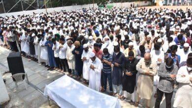 Photo of Maulana Naseeruddin's funeral performed in Sayeedabad