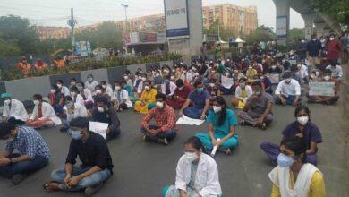 Doctors at Gandhi stage protest over assault on medical students