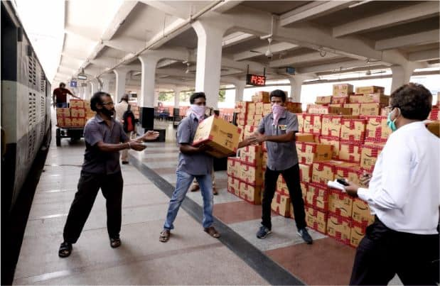 SCR Transports Third highest Parcel Traffic amongst all Zones over IR