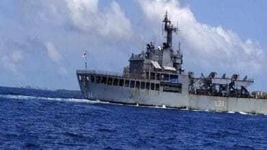 Photo of INS Airavat set to sail from Male with 250 stranded Indians
