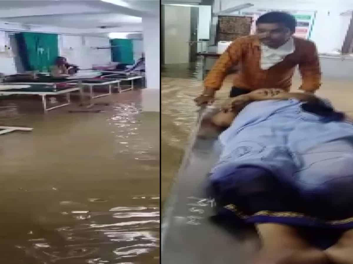 Rainwater enters emergency ward of COVID Hospital in Jalgaon