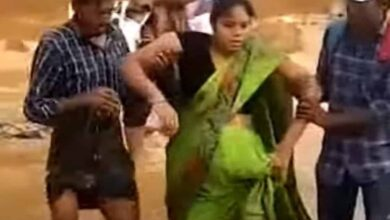 Photo of TS: Pregnant woman in labour pain crosses stream to reach hospital