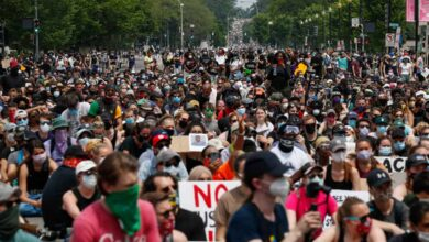 Photo of Protesters flood streets in huge, peaceful push for change