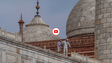 Photo of Taj Mahal: Thunderstorm damages monument's marble railing