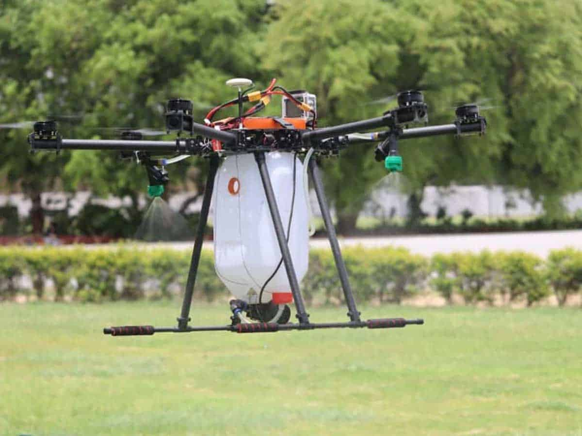 Students in Hyderabad develop disinfectant drone to combat COVID