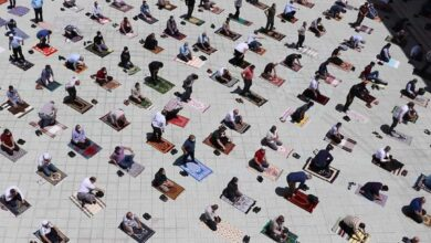 Photo of Mass Friday prayers in Turkey for the first time since March 16
