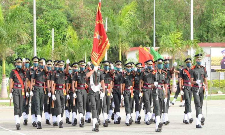 With face masks on, Passing out parade held at MCEME Hyderabad