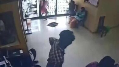 Photo of Caught on CCTV: Woman dies after colliding into glass door at bank