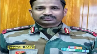 Photo of Army officer from Telangana matryed during standoff with China