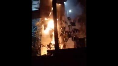 Photo of Hyderabad: Transformer goes up in flames at Banjara Hills