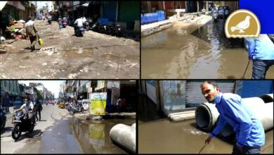 Photo of Hyderabad: Drainage Water flowing on Mir Alam Mandi road