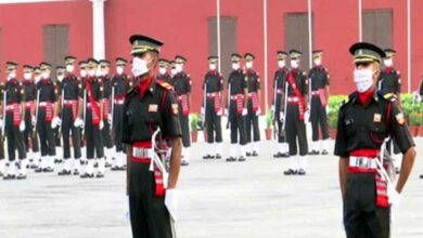 Photo of With face masks on, passing out parade held at IMA Dehradun