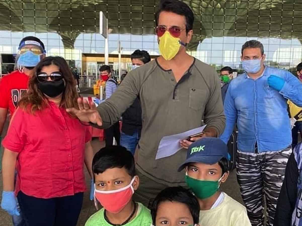Another kind gesture, Sonu Sood sends Assam migrants home