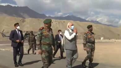 Photo of PM Modi visits forward location in Ladakh amid tension with China