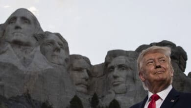 Photo of President Donald Trump at Mount Rushmore National Memorial