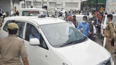 Photo of Cows caused accident of car carrying Dubey, claims STF