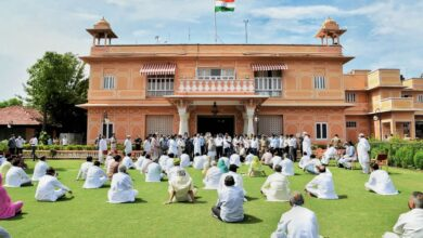 Photo of Rajasthan Congress MLAs protest