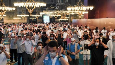 Photo of Thousands attend first Eid prayers at Hagia Sophia in 86 years
