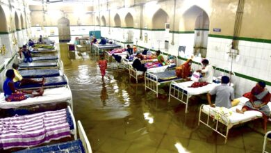 Photo of Osmania General Hospital flooded after heavy rain