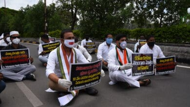 Photo of Telangana Youth Congress Dharna at Secretariat