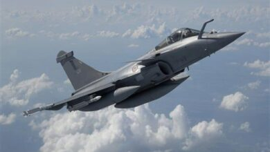 Photo of 5 Rafale fighter jets land at Ambala Air Base
