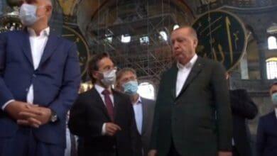 Photo of Erdogan visits Hagia Sophia after reconversion to mosque