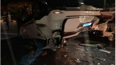 Photo of Hyderabad: Ex-police Commissioner survives in road accident