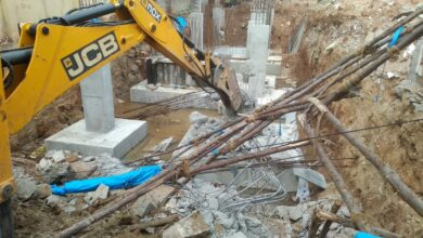 Photo of GHMC demolishes unauthorised structures at Gurukul lands