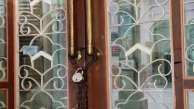 Photo of Osmania Hospital's door locked for the first time in 102 years