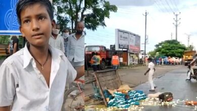 Photo of 12YO refuses to pay ₹100 bribe, civic staff topples his egg cart