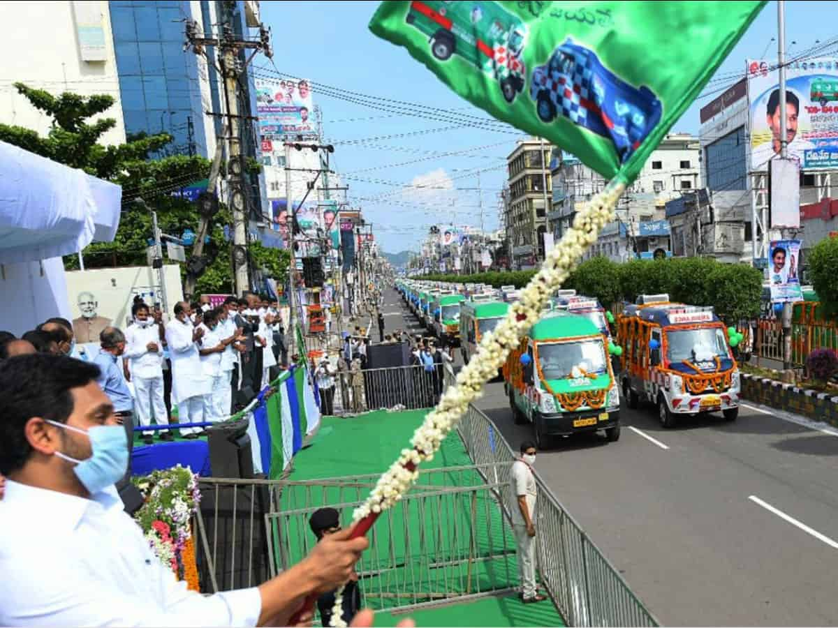 AP CM Jagan upgrades medical and health services with 1,088 new vehicles