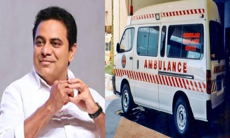 TRS Ministers Donate 100 ambulances on KTR's birthday; people say gesture is late