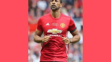 Manchester United defender Rio Ferdinand