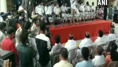 Photo of Social distancing norms violated at event attended by TRS leaders