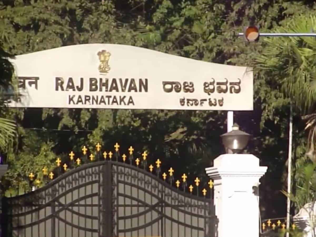 K'taka Cong men not allowed to protest at Raj Bhavan in B'luru