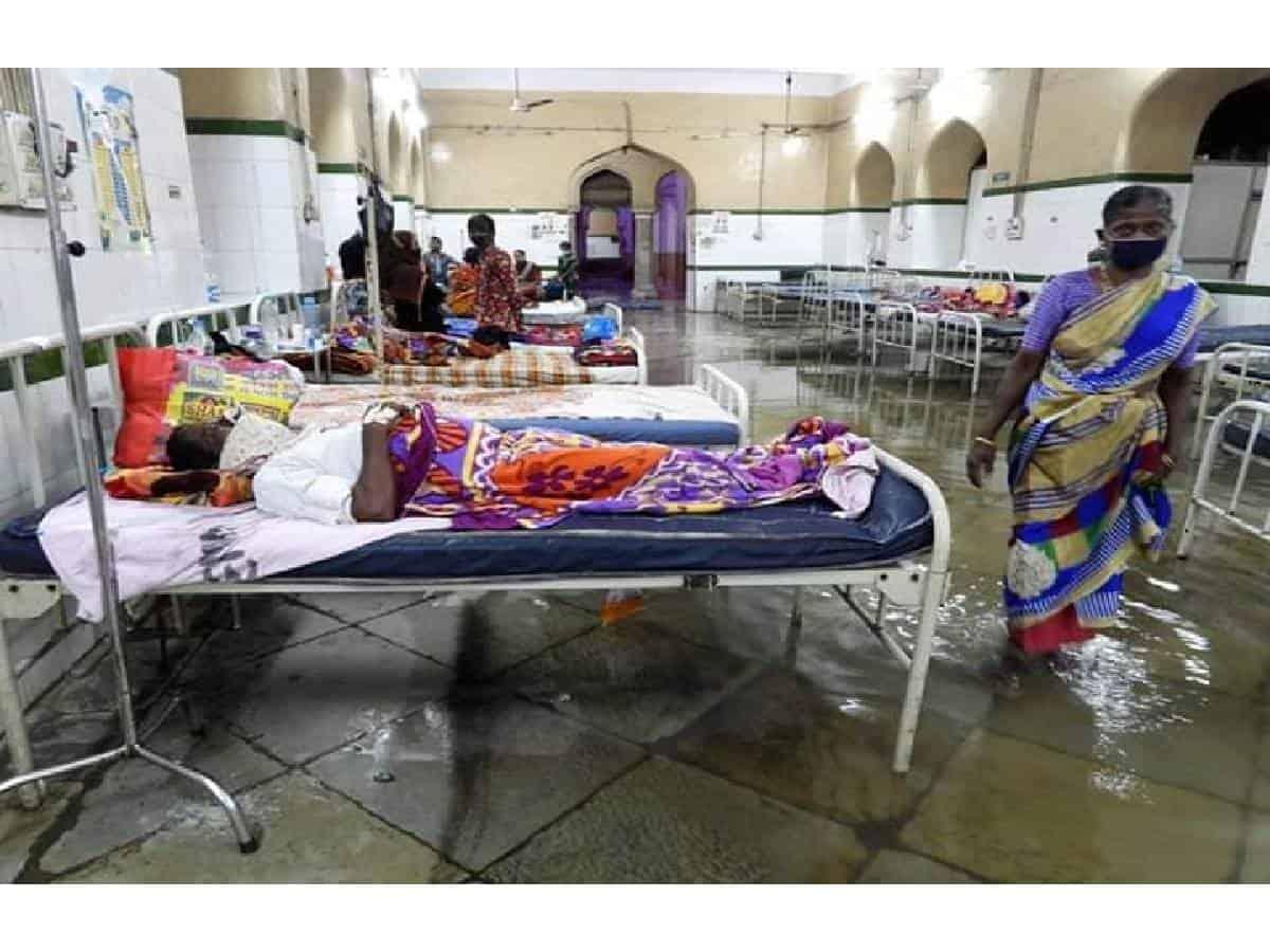 Hyderabad: Osmania General Hospital flooded after heavy rain