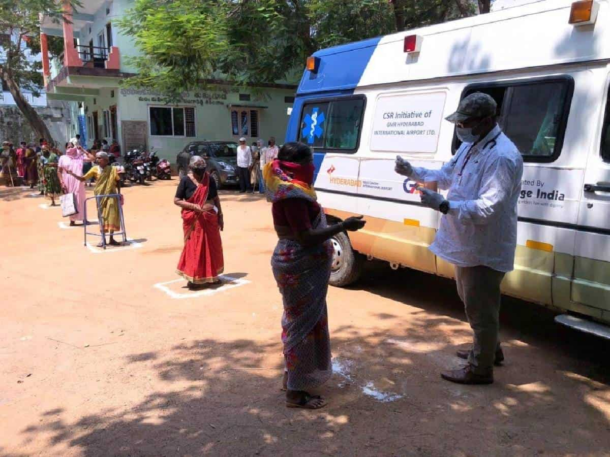 GMRVF organizes awareness camps, distributes medicines to senior citizens during pandemic